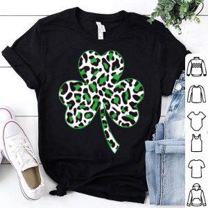 Awesome Cute Shamrock Leopard Print St Patricks Day Irish Pattern shirt