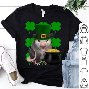 Awesome St. Patrick's Day Possum With Clovers shirt