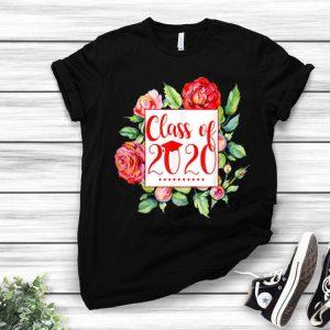 Class Of 2020 Senior Graduate Graduation Floral shirt
