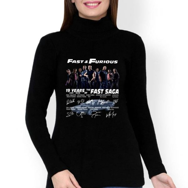 Fast And Furious 19 Years Of The Fast Saga 2001-2020 Signatures shirt