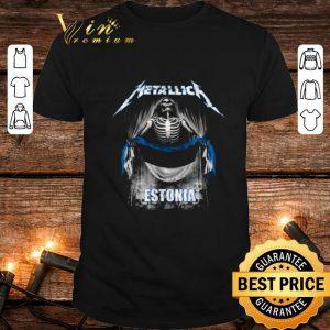Funny Skeleton Metallica mashup Estonia flag shirt