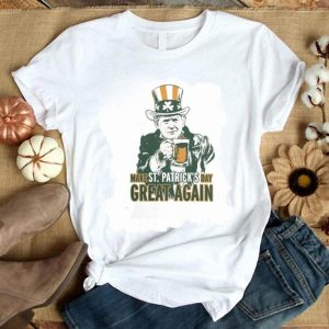 Funny Trump drink beer Make Saint Patrick's Day Great Again shirt