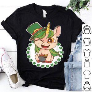 Great St Patricks Day Irish Unicorn With Hat shirt