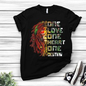 Lion One Love One Heart One Destiny Bob Marley shirt