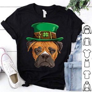 Original Boxer St Patricks Day Boys Men Leprechaun Dog Lover Gift shirt