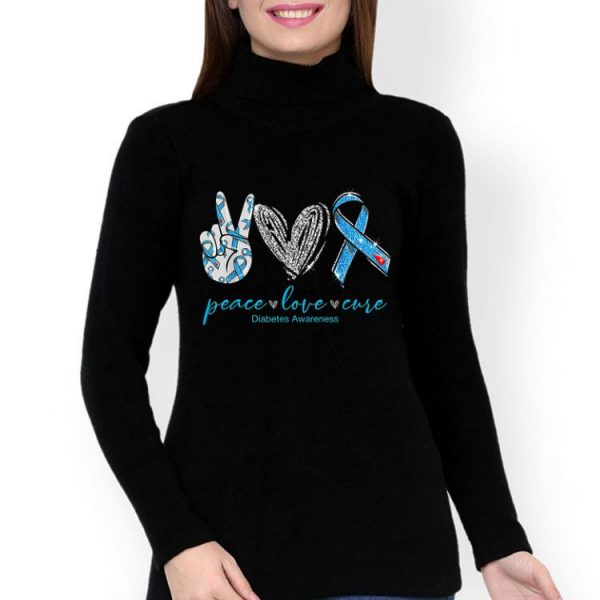 Peace Love Cure Diabetes Awareness shirt