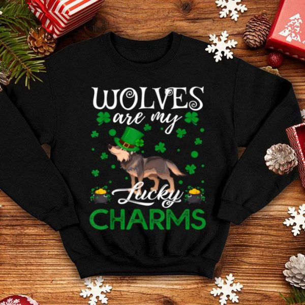 Top Wolves Are My Lucky Charms Wolf St. Patrick's Day shirt