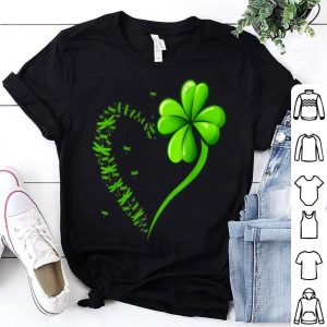 Awesome Dragonfly Heart Leaf Irish St Patrick's Day Clover Gift shirt