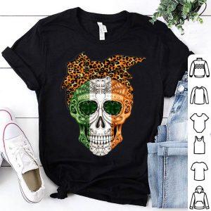 Awesome Leopard Pandana Sugar Skull St Patricks Day Gifts shirt