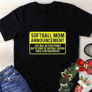 Awesome Softball Mom Announcement shirt