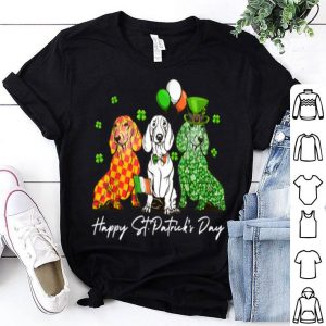 Beautiful Dachshund Dog Shamrock St Patrick's Day Irish Dog Lover Gift shirt