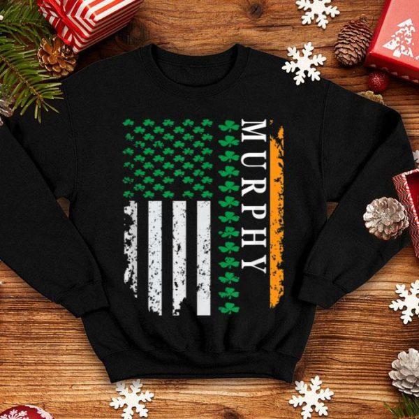 Beautiful Shamrock Usa Flag St Patrick's Day Murphy shirt