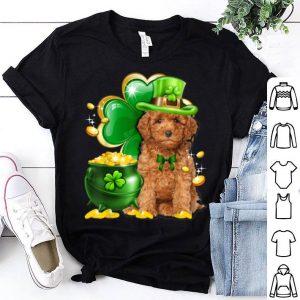 Beautiful Toy Poodle Dog Shamrock St Patricks Day Dog Irish Gift shirt