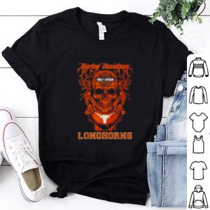 Cheap Skull mashup Motor Harley Davidson Cycles Texas Longhorns shirt