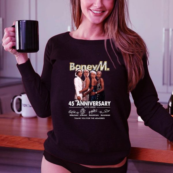 Funny Boney M. 45th Anniversary 1975-2020 Thank You For The Memories shirt