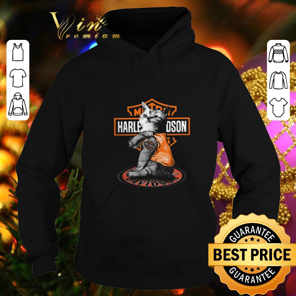 Funny Cat tattoo Motor Harley Davidson Cycles shirt 4 1 - Funny Cat tattoo Motor Harley Davidson Cycles shirt