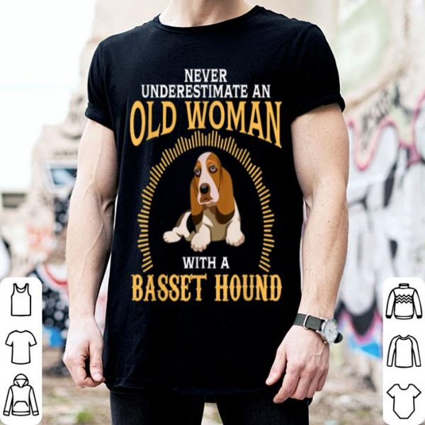 Nice Basset Hound Grandma Funny Mom Mama Mother Gifts Old Woman shirt