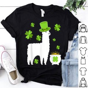 Nice Llama Lovers Clovers St. Patrick's Day Gift shirt