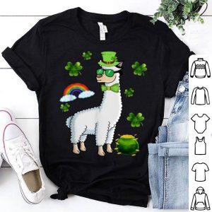 Nice Llama Shamrock Llama Saint Patrick's Day Gifts shirt