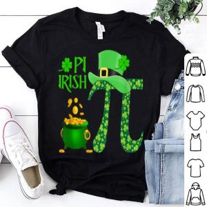Nice Shamrock Pi Irish Lucky Math Teacher St. Patrick's Day Coin shirt