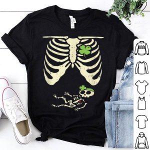 Nice St Patricks Day Pregnancy Announcement Girl Skeleton shirt