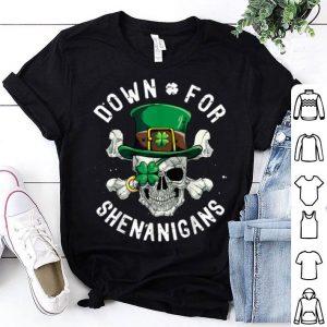 Official Down For Shenanigans St Patricks Day Pirate Leprechaun Men shirt