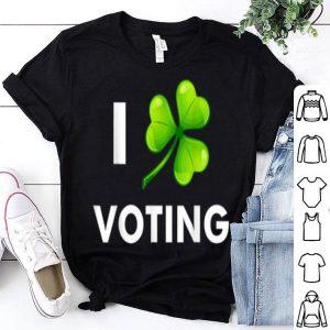 Official I Love Voting Funny St Patricks Day Gift Green Shamrock shirt