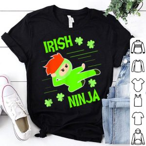 Official St Patricks Day Irish Ninja Gifts For Kids Boys Girl shirt