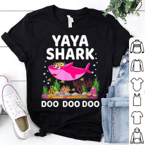 Official Yaya Shark Mothers Day Gift Idea For Mother Wife shirt