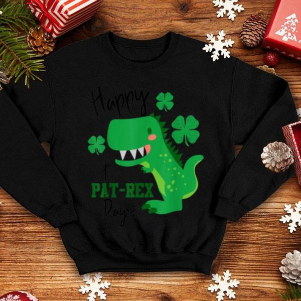 Original Happy St Pat Trex Day Dinosaur St Patricks Day T Rex shirt