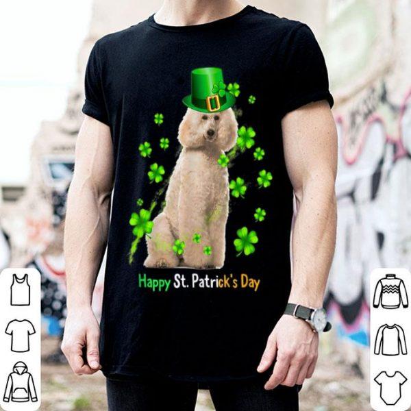 Original St Patrick's Day Poodle Shamrock Pet Dog Lover shirt