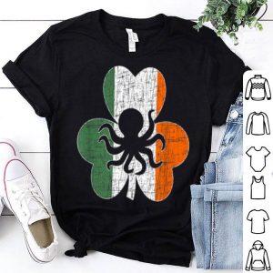 Premium Irish Usa Flag Octopus Animals Farm Gifts St.patrick's Day shirt