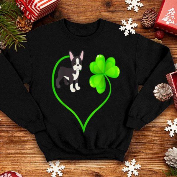 Premium St Patricks Day Boston Terrier Dog Mom Dad Shamrock Kids shirt