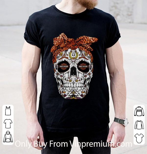 Great Sugar Skull Motor Harley Davidson Cycles shirt