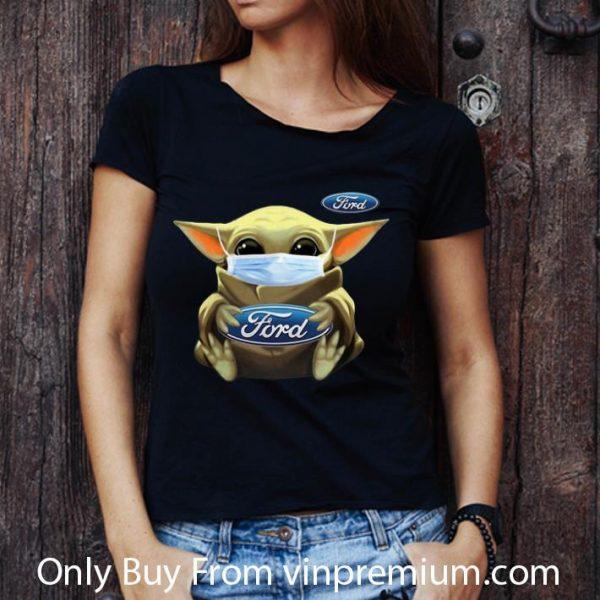 Premium Star Wars Baby Yoda Face Mask Hug Ford Covid-19 shirt