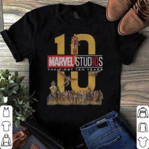 Avengers Endgame Marvel Studios First Ten Years Full Cast Graphic shirt