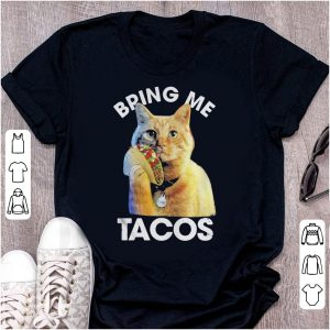 Captain Marvel Goose the cat Bring me tacos shirt