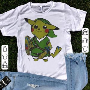 Pikachu link legend of Zelda parody shirt