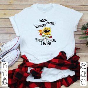 Rock paper scissors throat punch i win flower shirt