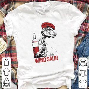 T-rex Dinosaur Wine Beret Wino Saur shirt