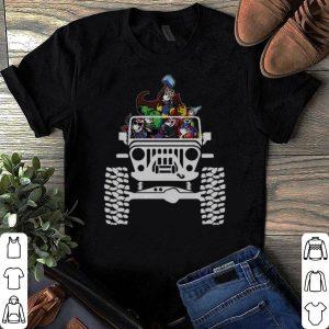 Unicorns in the Jeep Avengers Endgame shirt