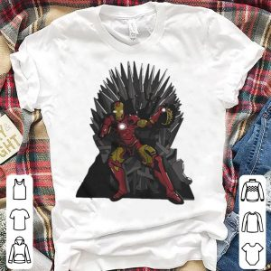 Game Of Thrones Iron Man Avengers Tony Stark Sitting On Iron Throne shirt