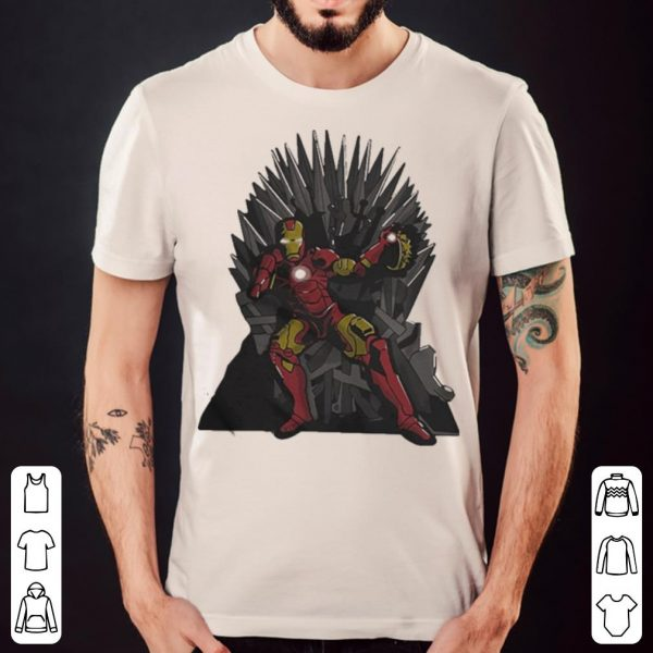 Game Of Thrones Iron Man Avengers Tony Stark Sitting On Iron Throne shirt