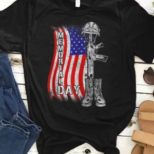 Memorial Day Remember And Honor Soldier Gun Cap And Boots shirt