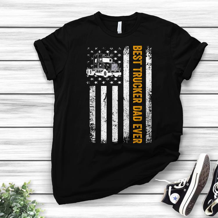 436f58bb9e Vintage USA Best trucker Dad Ever American Flag Fathers Day shirt ...
