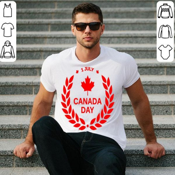 1st Of July Canada Day Laurel Wreath Shirt
