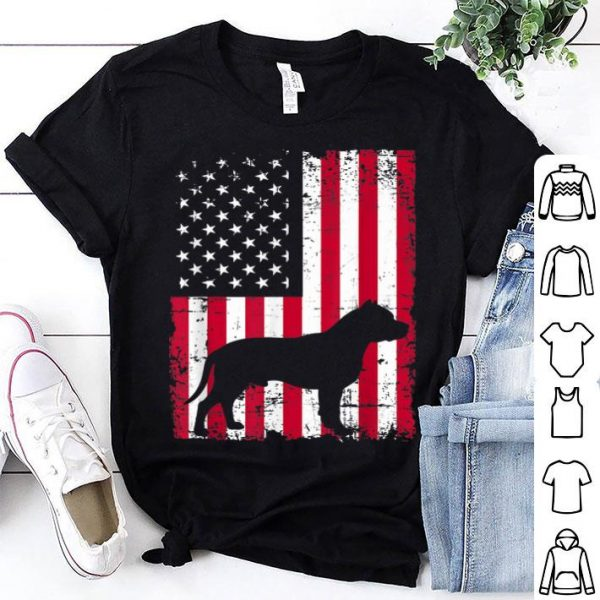 4th Of July Merica Patriotic Flag Usa Pitbull Shirt