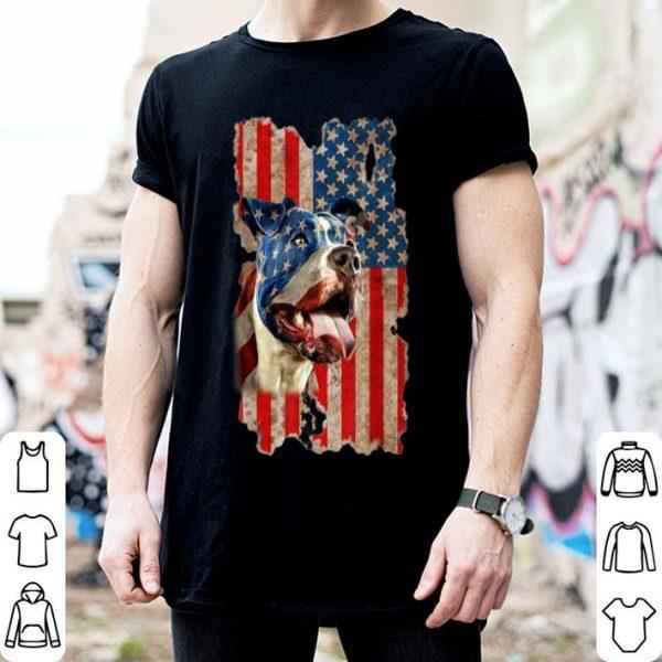 4th of july Pitbull dog American Flag shirt