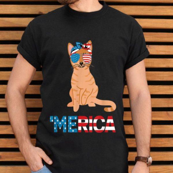 American Flag Australian Mist Cat 4th Of July Cats Shirt