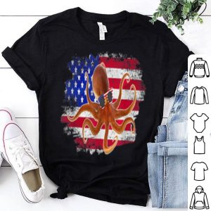 American Flag Octopus Animal Lover Vintage USA shirt
